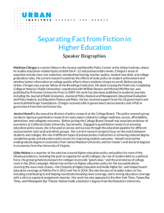 Separating Fact from Fiction in Higher Education  Speaker Biographies