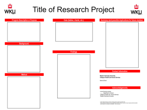 Title of Research Project Data (tables, charts, etc.)