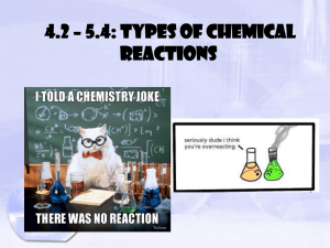 4.2 – 5.4: Types of Chemical Reactions