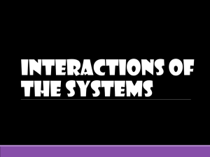 Interactions of the Systems