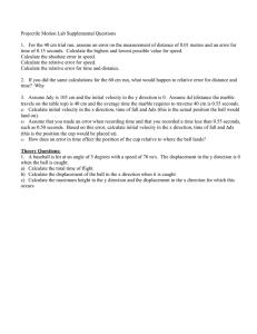 Projectile Motion Lab Supplemental Questions