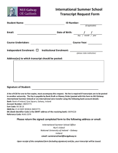 International Summer School Transcript Request Form