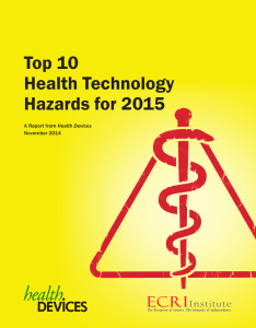 Top 10 Health Technology Hazards for 2015