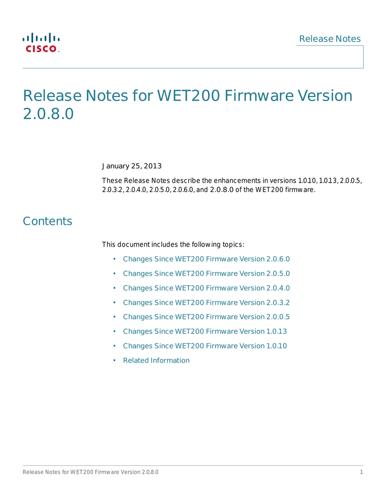 cisco wet200 firmware