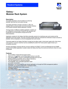 Galaxy - Modular Rack System Headend Systems Description
