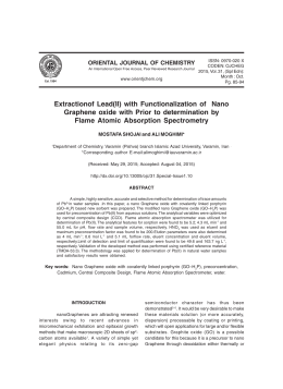 Extractionof Lead(II) with Functionalization of  Nano Flame Atomic Absorption Spectrometry
