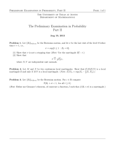 Preliminary Examination in Probability, Part II Page: 1 of 1