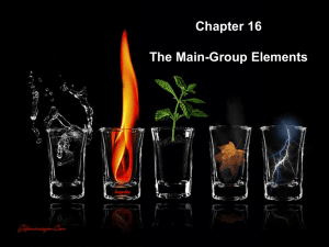 Chapter 16 The Main-Group Elements