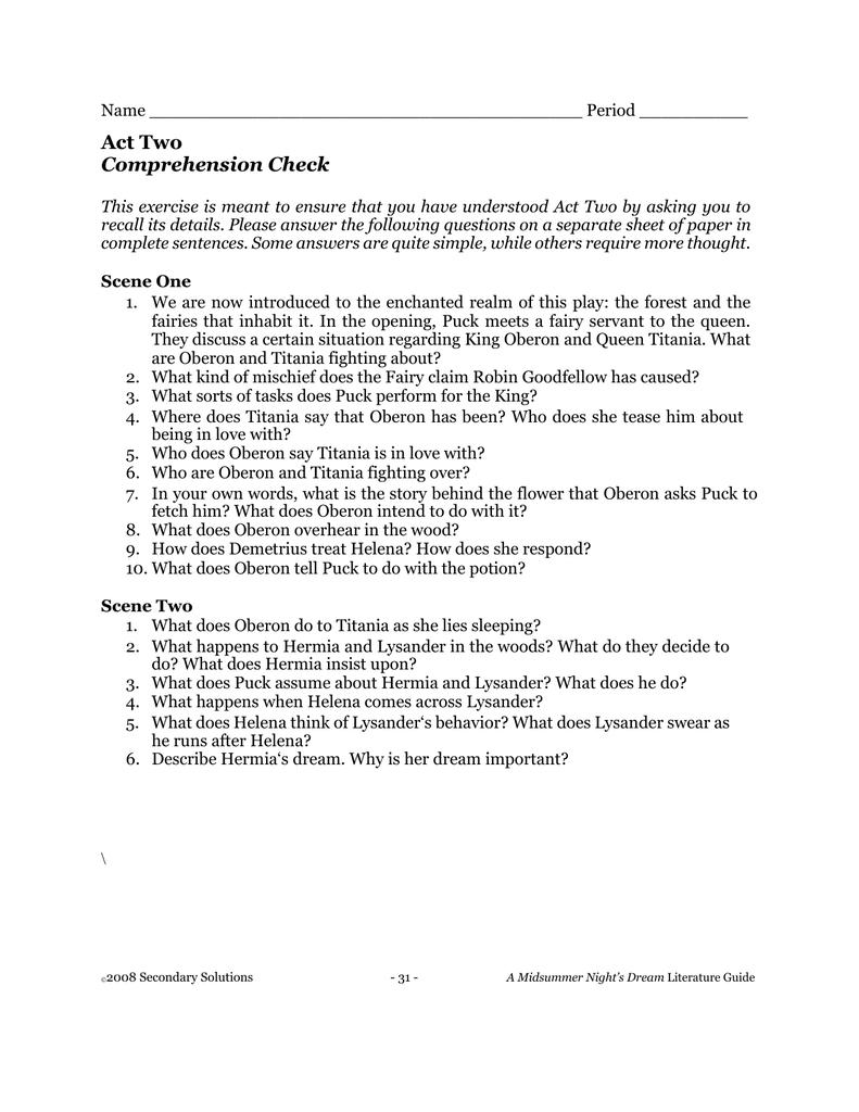 Secondary Solutions Night Literature Guide Answer Key International Radio Wiring Diagram 1994 Toyota Corolla
