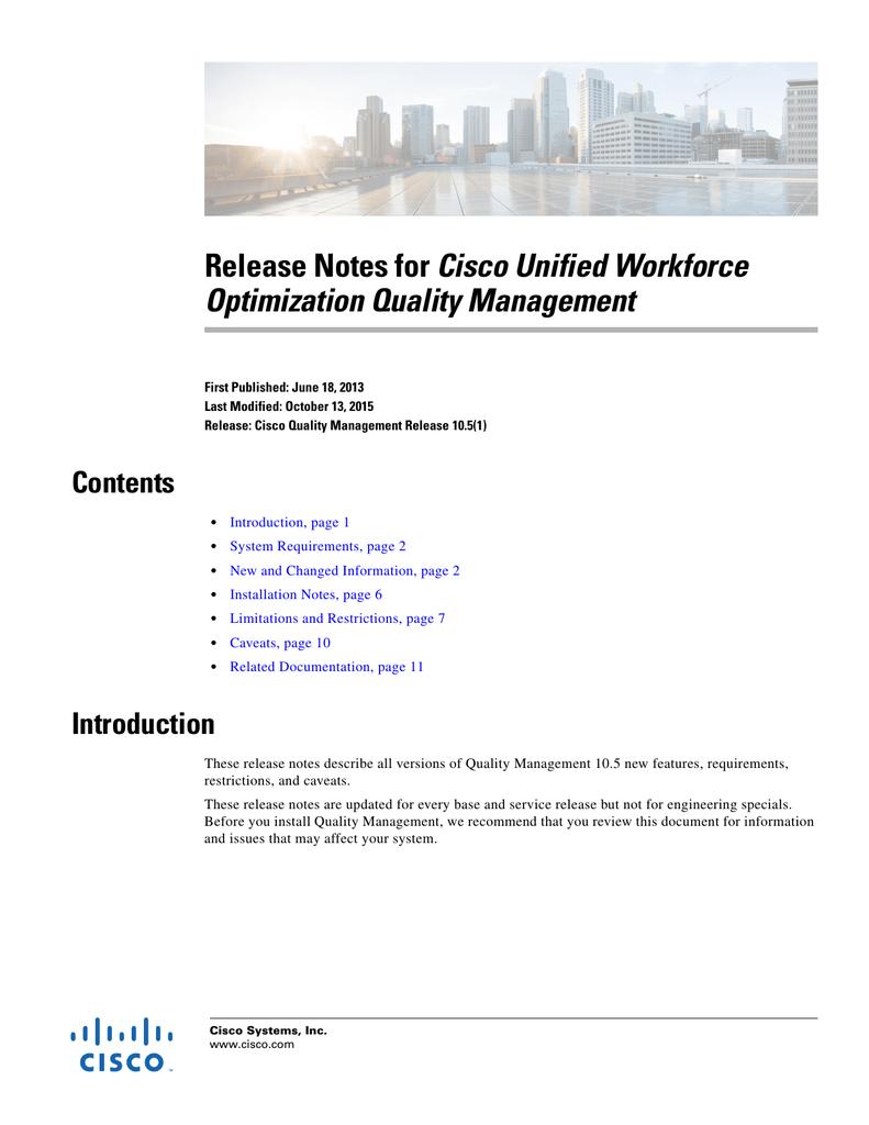 Cisco Unified Workforce Optimization Quality Management