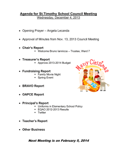 Agenda for St.Timothy School Council Meeting