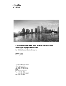 Cisco Unified Web and E-Mail Interaction Manager Upgrade Guide