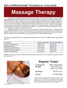 Massage Therapy Delta-Montrose Technical College
