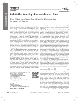 Path-Guided Wrinkling of Nanoscale Metal Films
