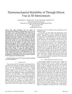 Thermomechanical Reliability of Through-Silicon Vias in 3D Interconnects Kuan-Hsun Lu ,