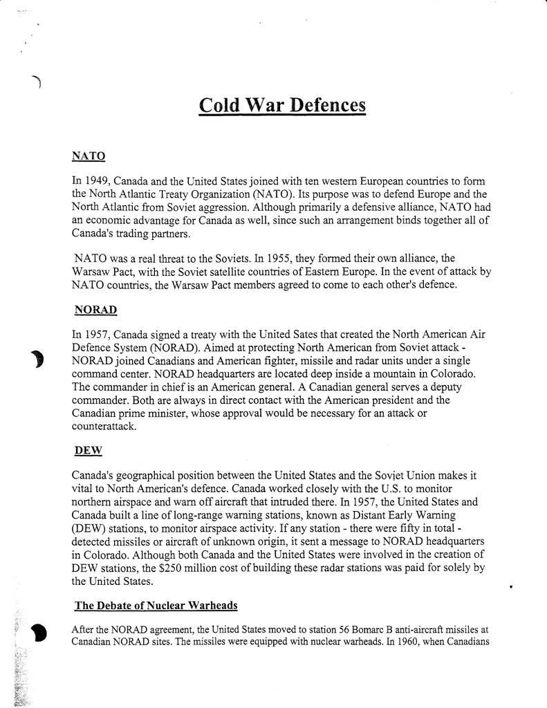 War Cold Defences L