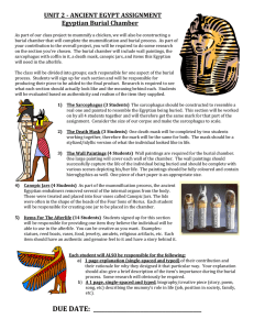 UNIT 2 - ANCIENT EGYPT ASSIGNMENT Egyptian Burial Chamber