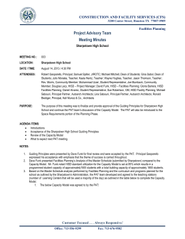 construction and facility services cfs meeting minutes facilities