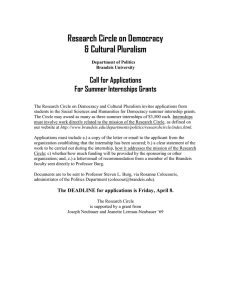 Research Circle on Democracy & Cultural Pluralism Call for Applications