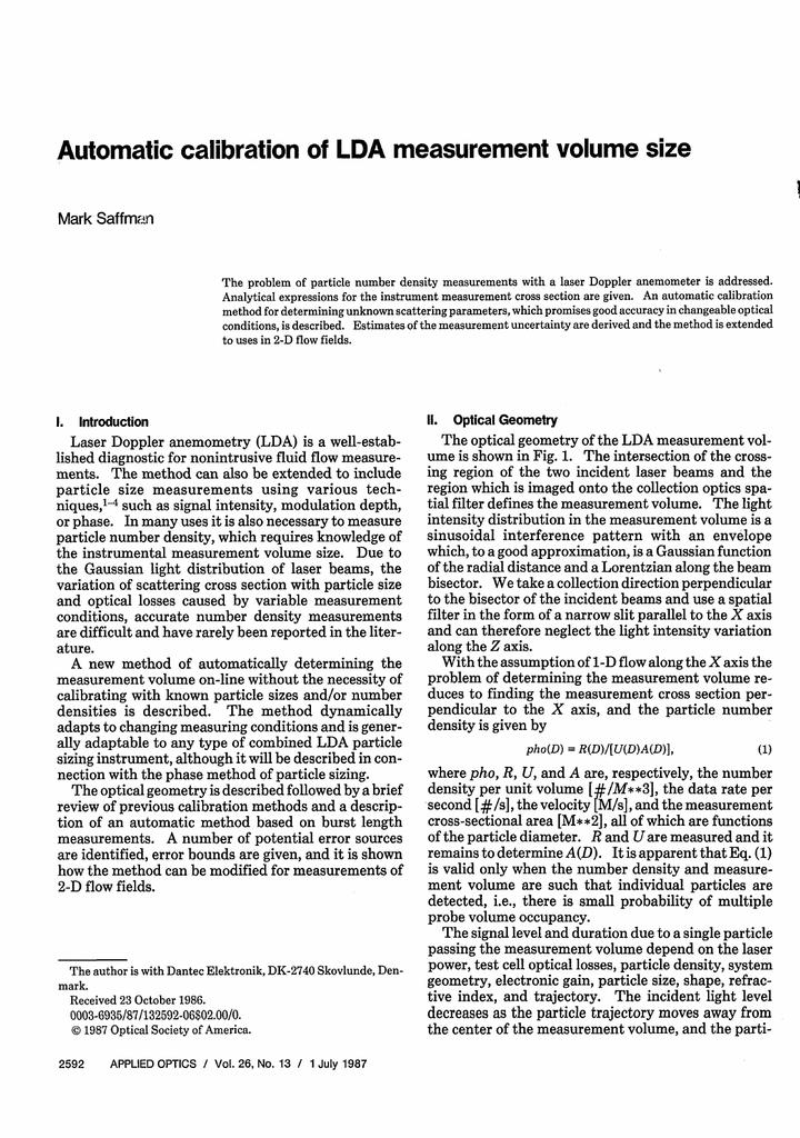 Particle Size Measurement [Vol 2 of 2]