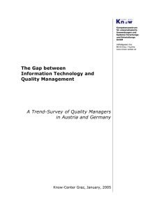 The Gap between Information Technology and Quality Management