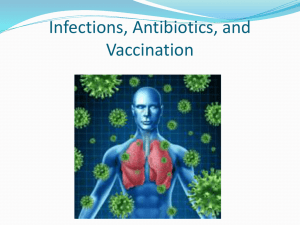 Infections, Antibiotics, and Vaccination