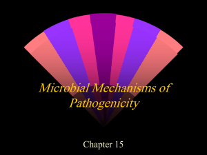 Microbial Mechanisms of Pathogenicity Chapter 15