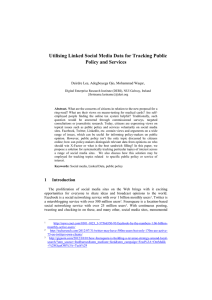 Utilising Linked Social Media Data for Tracking Public Policy and Services