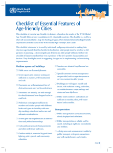 Checklist of Essential Features of Age-friendly Cities