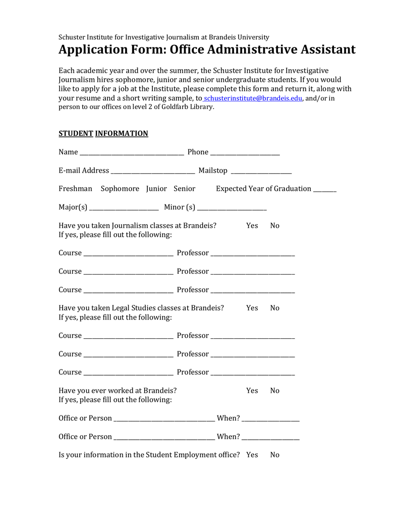 By Photo Congress    Sample Admission Form Format For Institute