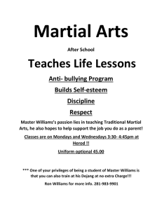 Martial Arts Teaches Life Lessons  Anti- bullying Program
