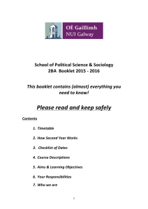 Please	read	and	keep	safely School	of	Political	Science	&	Sociology 2BA		Booklet	2015	-	2016