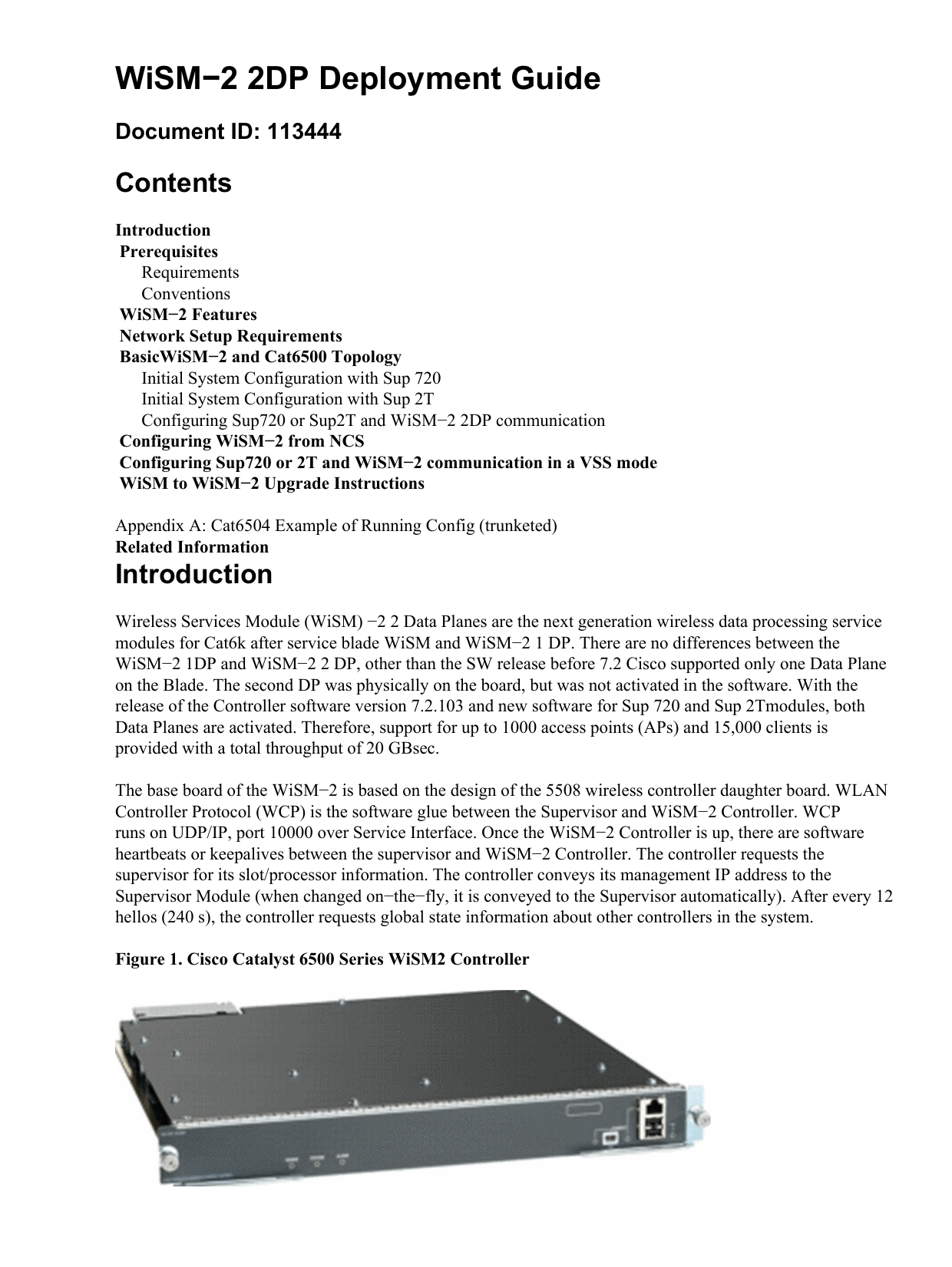 WiSM−2 2DP Deployment Guide Contents Document ID: 113444
