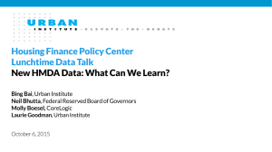 Housing Finance Policy Center Lunchtime Data Talk
