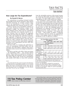 How Large Are Tax Expenditures?