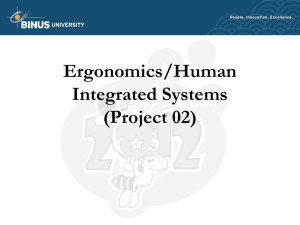 Ergonomics/Human Integrated Systems (Project 02)