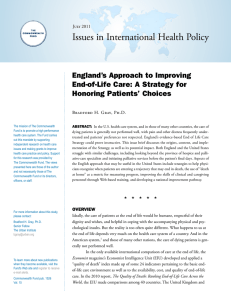 Issues in International Health Policy England's Approach to Improving Honoring Patients' Choices