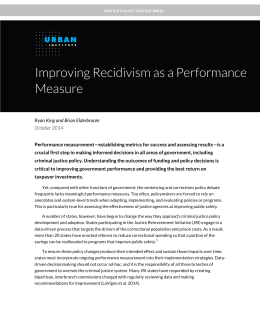 Improving Recidivism as a Performance Measure