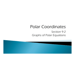 Section 9-2 Graphs of Polar Equations