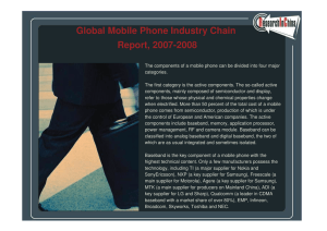 Global Mobile Phone Industry Chain Report, 2007-2008