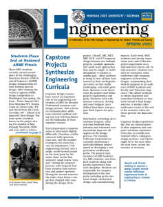 E ngineering Capstone Projects