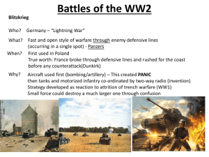 Battles of the WW2