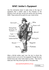 WWI Soldier's Equipment