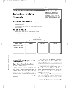 Industrialization Spreads CHAPTER 25