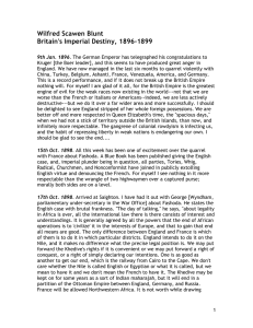 Wilfred Scawen Blunt Britain's Imperial Destiny, 1896-1899