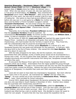 American Biography – Sacajawea (About 1787 – 1884) Boinaiv (Grass Child) Sacajawea Idaho