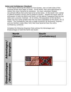Union and Confederacy (Handout)