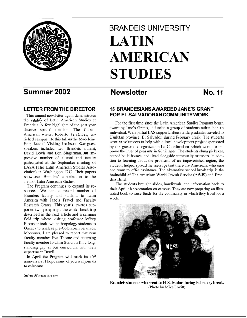 Latin American Studies Brandeis University