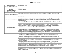 DSA Assessment Plan