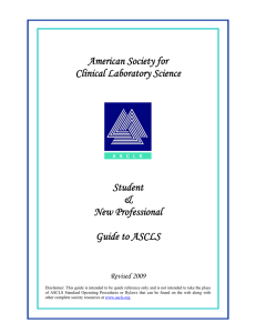 American Society for Clinical Laboratory Science Student &